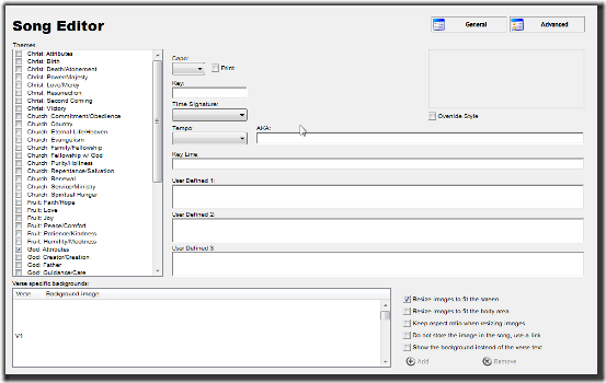 OpenSong: Free Software to Manage Editing of Songs