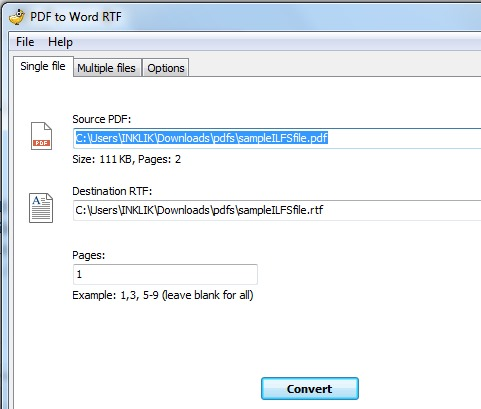 PDF to Word RTF