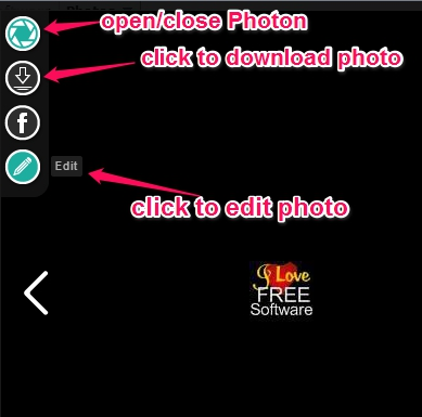 Photon icon with download and edit button
