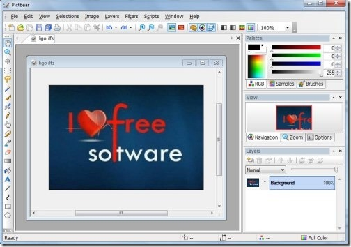PictBear-main interface