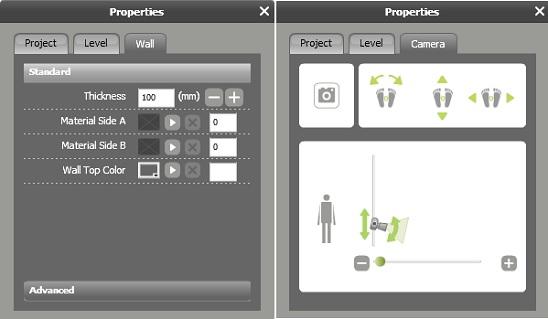 RoomSketcher - object properties
