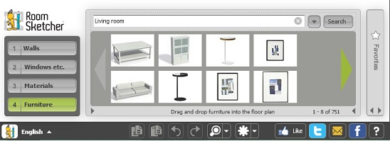 RoomSketcher - objects inside tool box