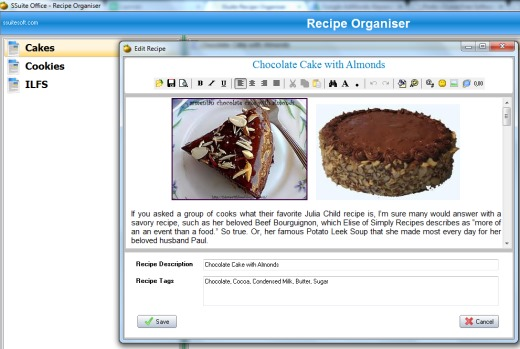 SSuite Office- Recipe Organiser