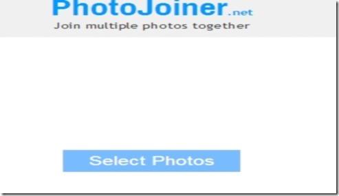 PhotoJoiner.net main interface