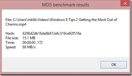 SendTo MD5 - benchmark