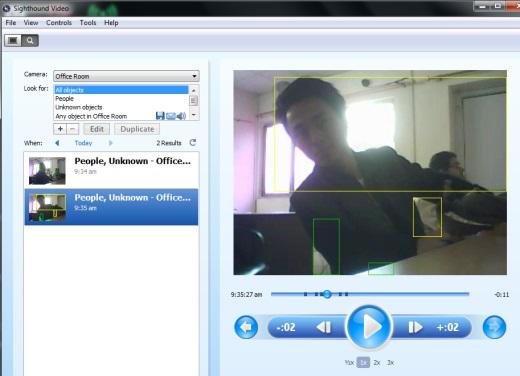Sighthound Video- free webcam surveillance software