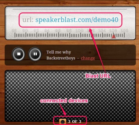 SpeakerBlast- play same music on multiple devices in syncing