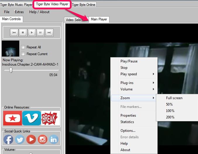 Tiger Bypte Video Player