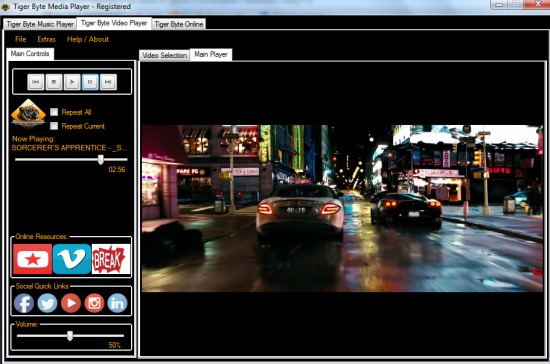 Tiger Byte Media Player- interface