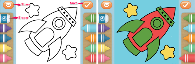 iPhone Coloring Book App For Kids Free