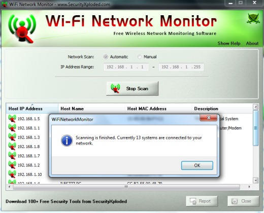 WiFi Network Monitor- detect unknown devices connected with wifi