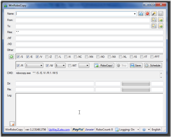 WinRoboCopy: Multiple File Copy Utility for Windows Using