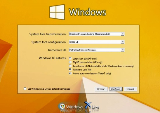 Windows 8 Transformation-UX Pack - installation