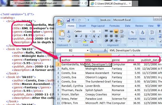 Xml to Csv Conversion tool- convert xml file to csv