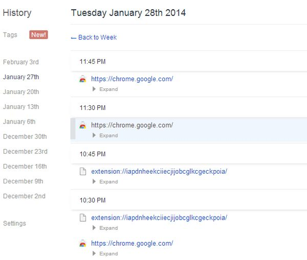 chrome history manager better history