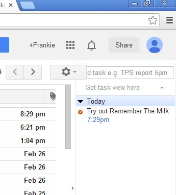chrome remember the milk extensions