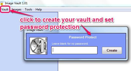 create a new vault