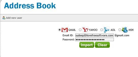 divShare - address book
