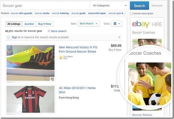 eBay Hire Ads