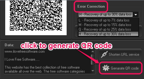 enter text to generate QR code