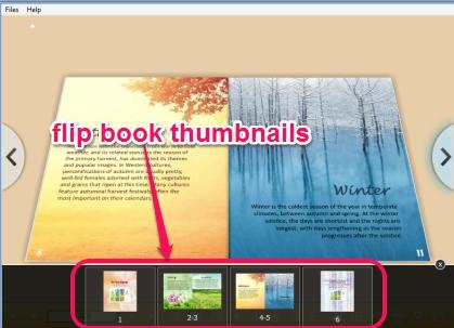 flip book thumbnails