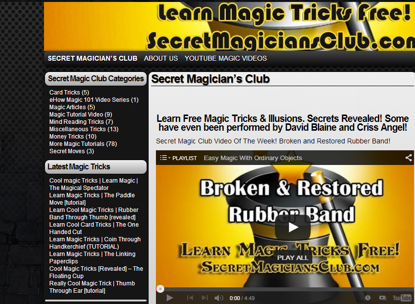 5 Websites To Learn Magic Tricks