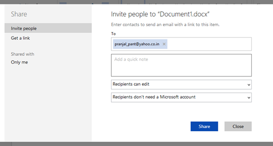 sharing a document