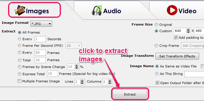extract images from video
