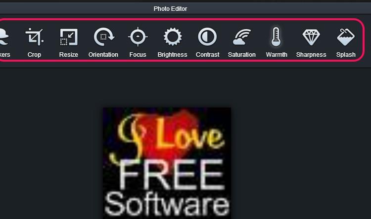 photo editor to enhance photo