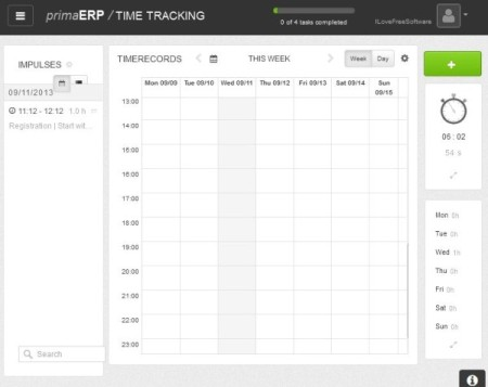 primaERP-online time tracking services