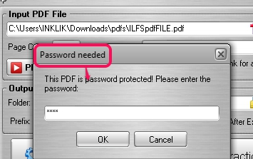 supports password protected PDF files