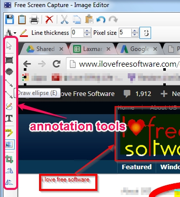 use image editor's tools