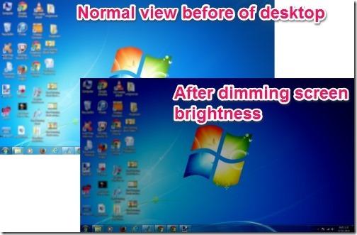 xTheEye-dimming screen brightness