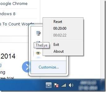 xTheEye-in system tray