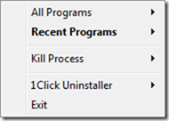 1 Click Uninstaller-main screen