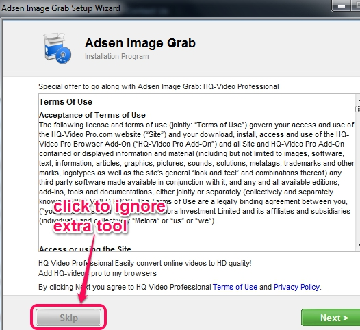 Adsen Image Grab- installation process
