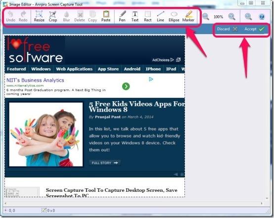 Anrpro Screen Capture Tool- image editor