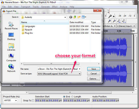 Audacity Karaoke Redndering Option