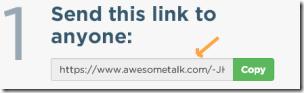 Awsometalk-sharelink