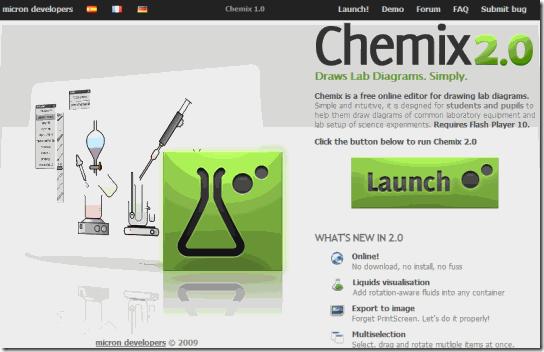 Chemix-Home Screen