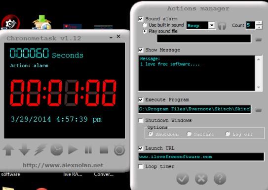 Chronometask- free task scheduler