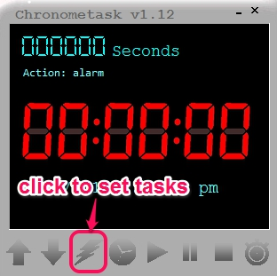 Chronometask- interface