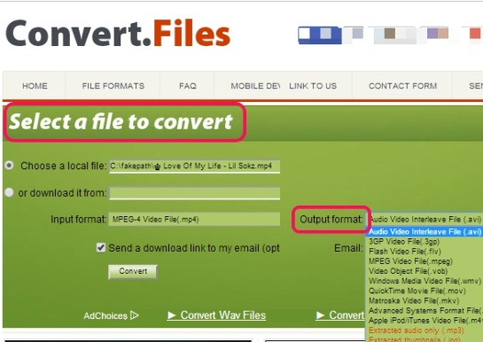 Convert.Files- interface