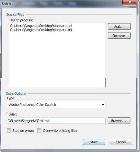 Cyotek Palette Editor-batch converter