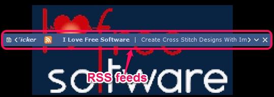 Desktop Ticker- view rss feeds