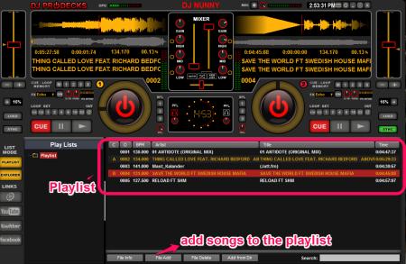 Dj Deck Pro Add files and playlist