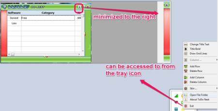 Donext Tray icon and minimizing