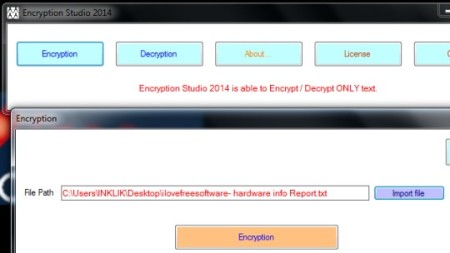Encryption-Studio-2014-interface-text encryption software