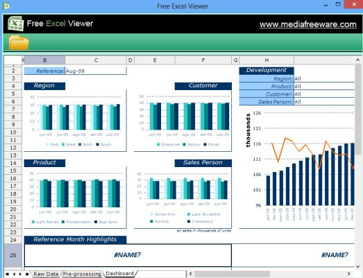 Free Excel Viewer- interface
