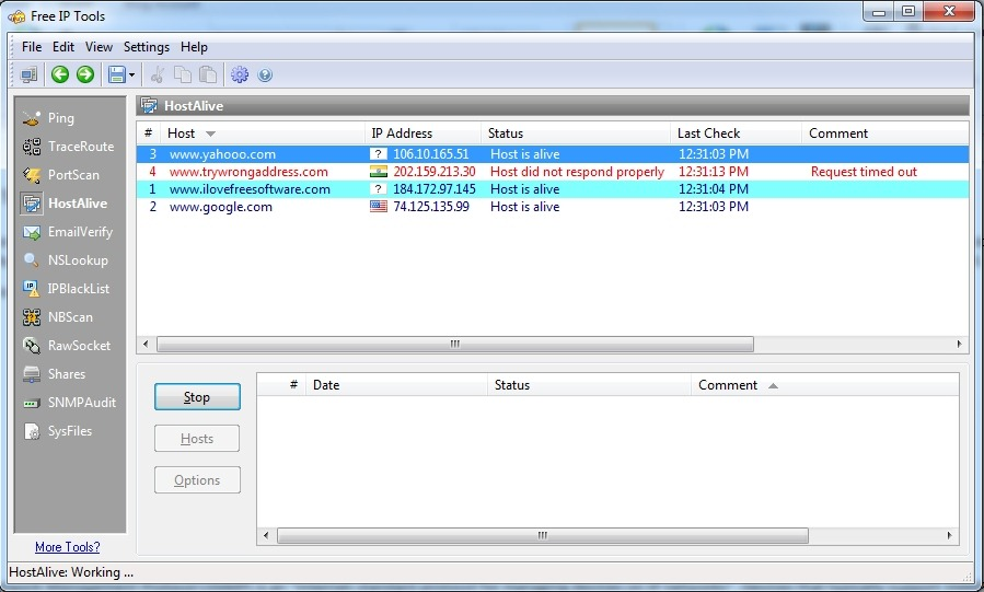 Free Suite of 12 Network Tools Like Ping, Traceroute